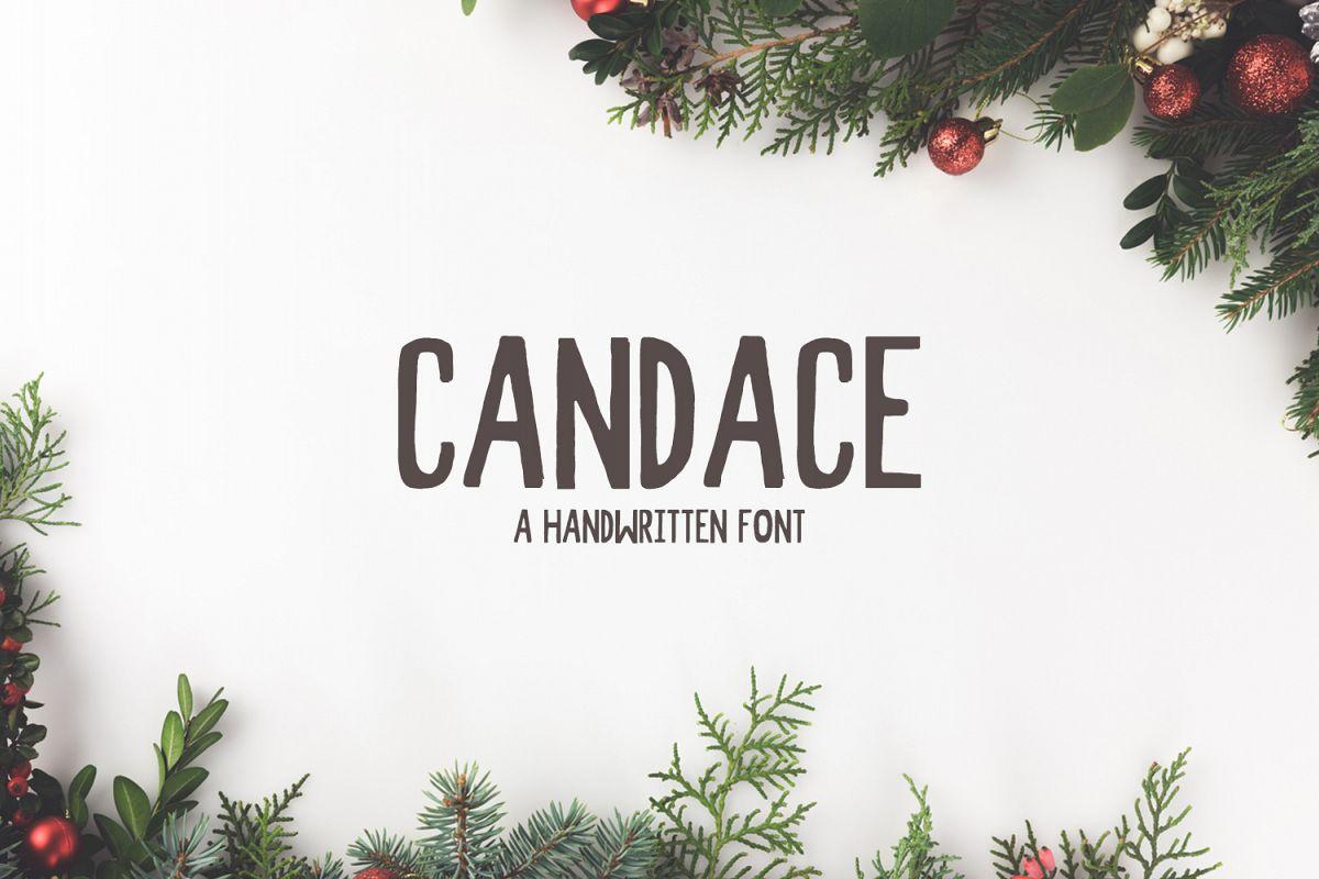 Candace A Handwritten Font + Bonus example image 1