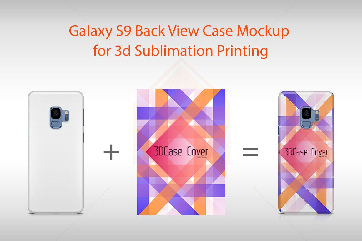 Samsung Galaxy S9 3D Case Design Mockup Back View example image 1