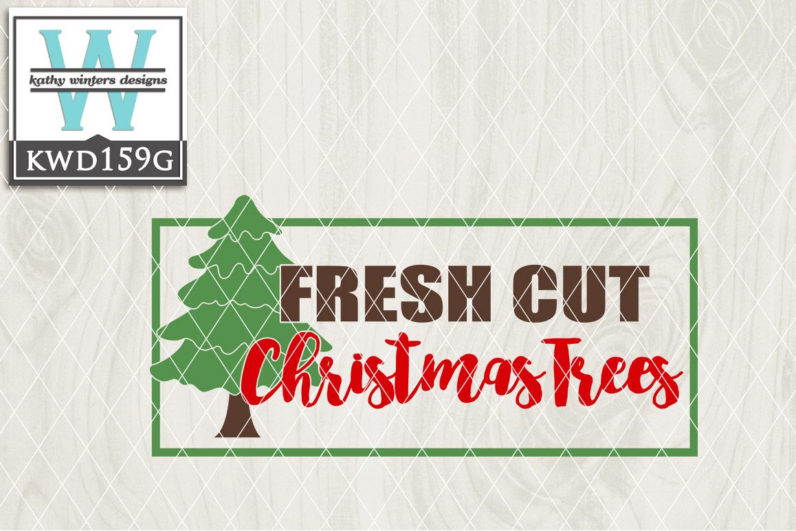 Christmas SVG - Fresh Cut Christmas Tree KWD159G example image 1