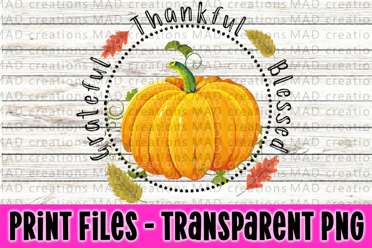 Grateful Thankful Blessed Print File example image 1