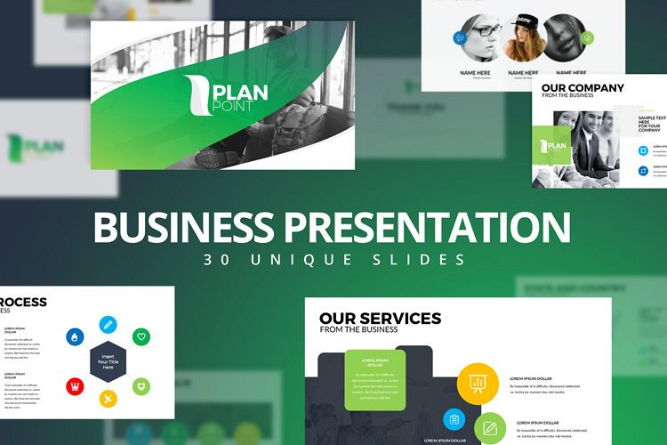 PlanPoint Keynote Presentation Template example image 1