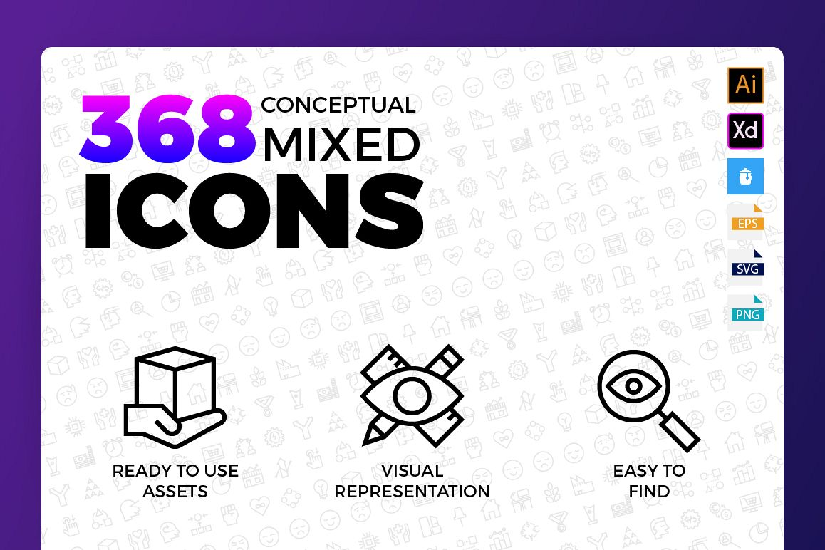 Conceptual Mixed Icons example image 1