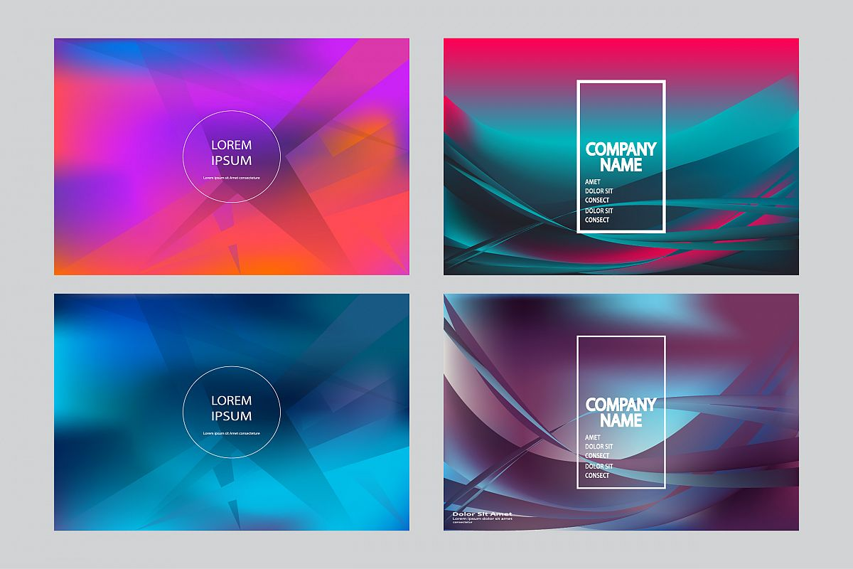 Fluid shapes wavy abstract background bright colors example image 1