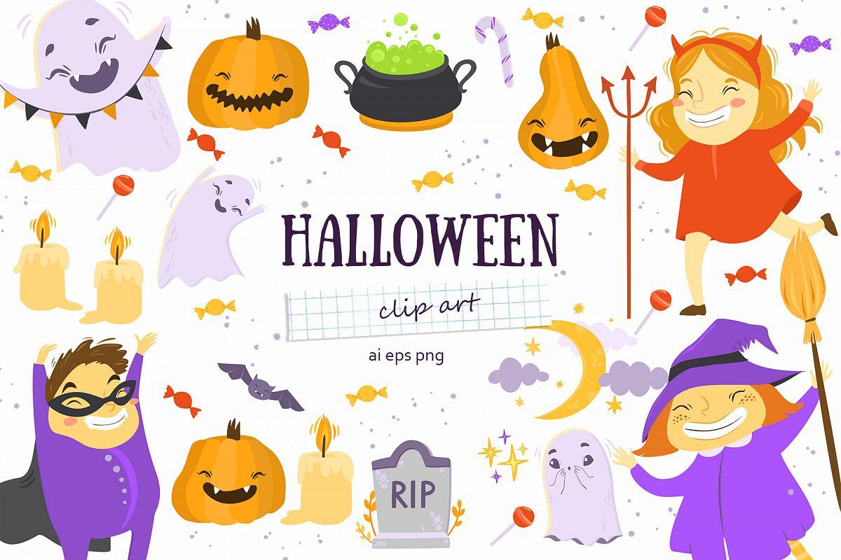 Halloween set. Kids party example image 1