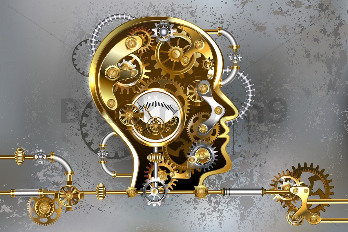 Steampunk Head with Manometer example image 1