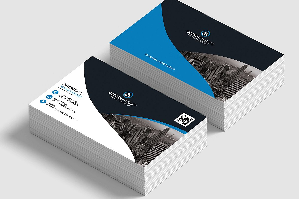 Horizontal Business Cards example image 1