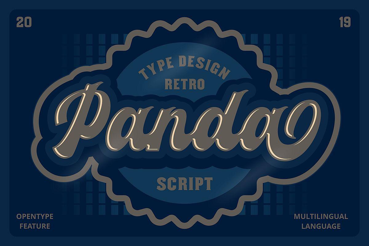 Panda Retro Script Font example image 1