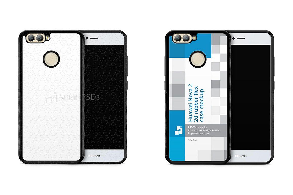 Huawei Nova 2 2d RubberFlex Case Design Mockup 2017 example image 1