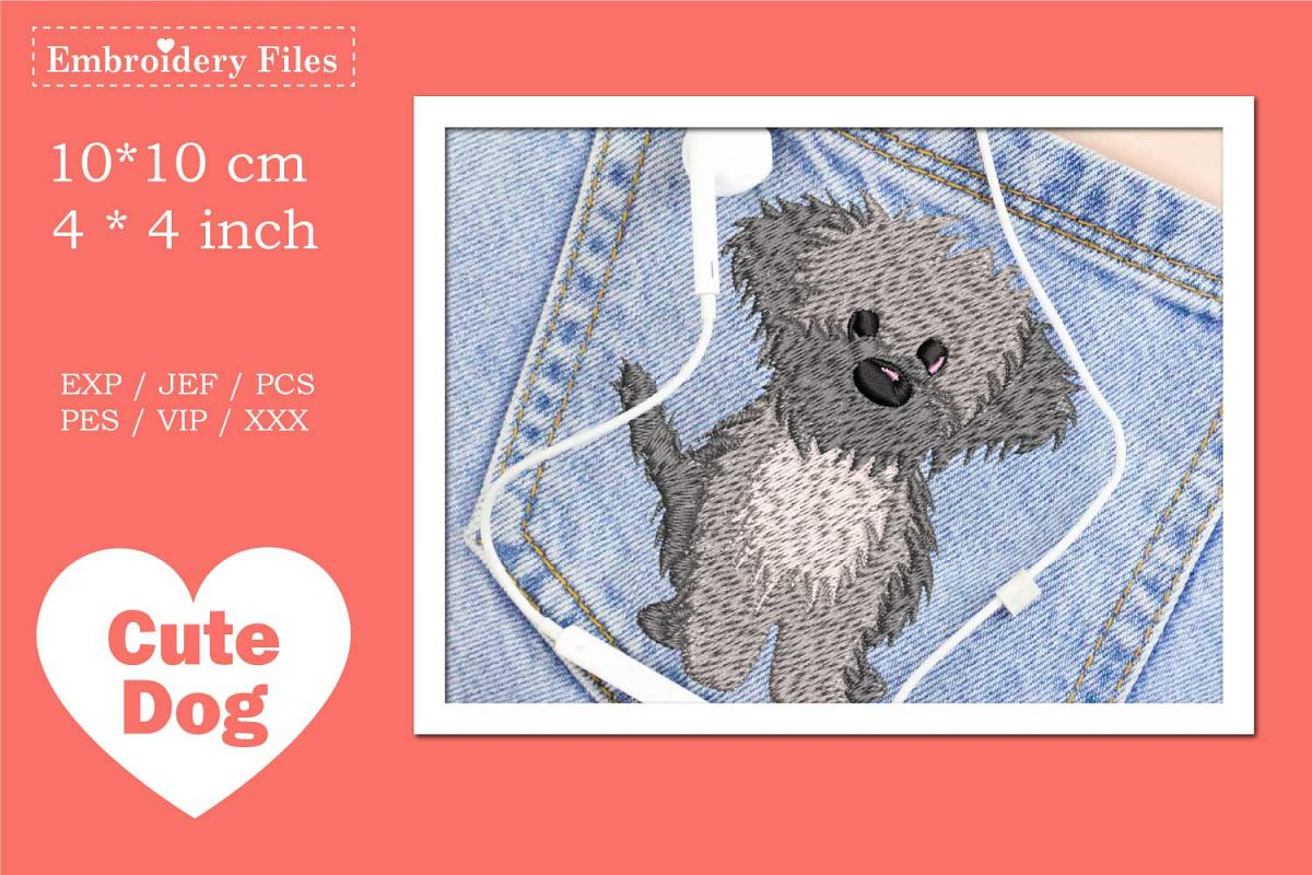 Cute little Havaneser Dog - Embroidery File example image 1