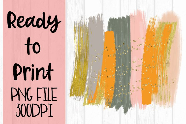 Pastel Paint Brush Strokes Ready to Print example image 1