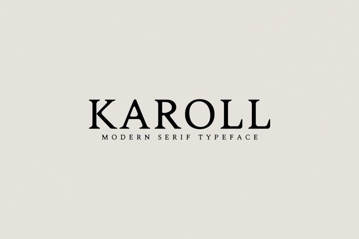 Karoll Modern Serif Font Typeface example image 1