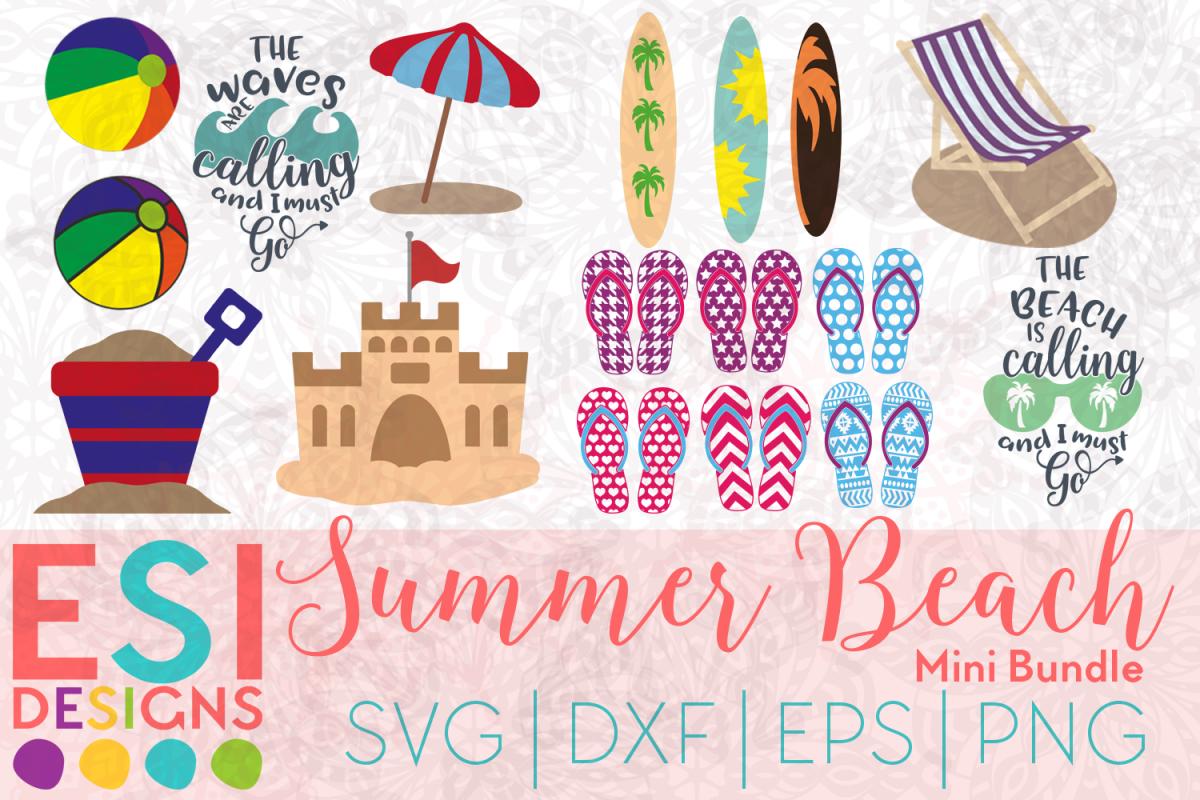 05afbf856 Beach SVG | Summer SVG| Bundle SVG| SVG, DXF, EPS & PNG