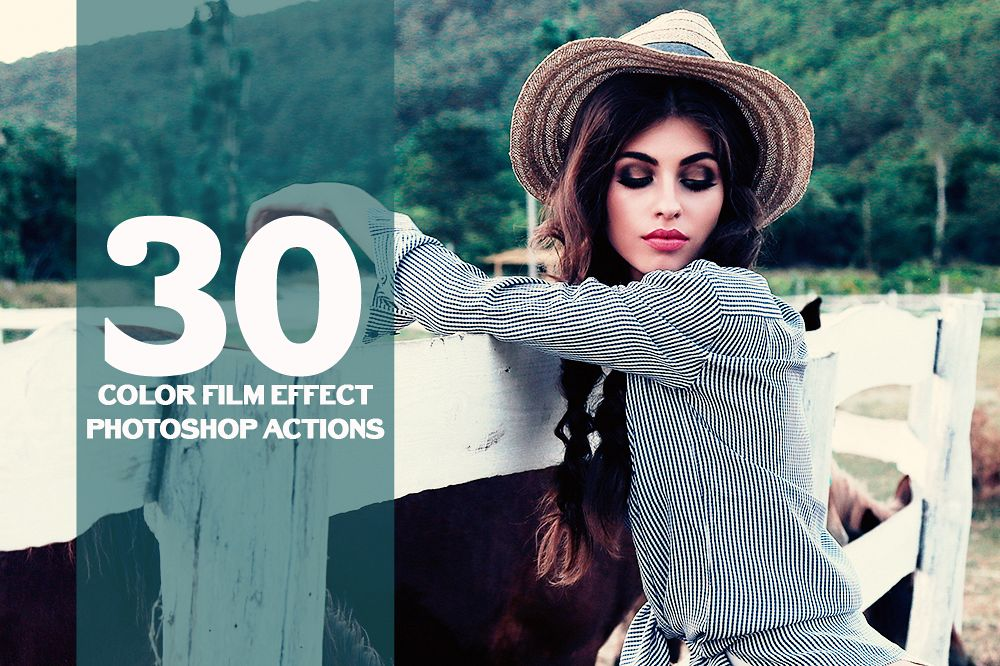 30 Color Film Effect Photoshop Actions Collection (Action for photoshop CS5,CS6,CC) example image 1