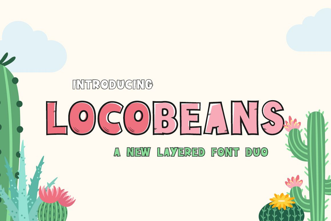 Locobeans Font Duo example image 1
