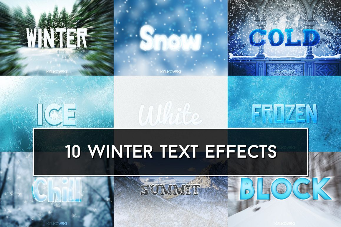 Winter Text Effects Mockup example image 1