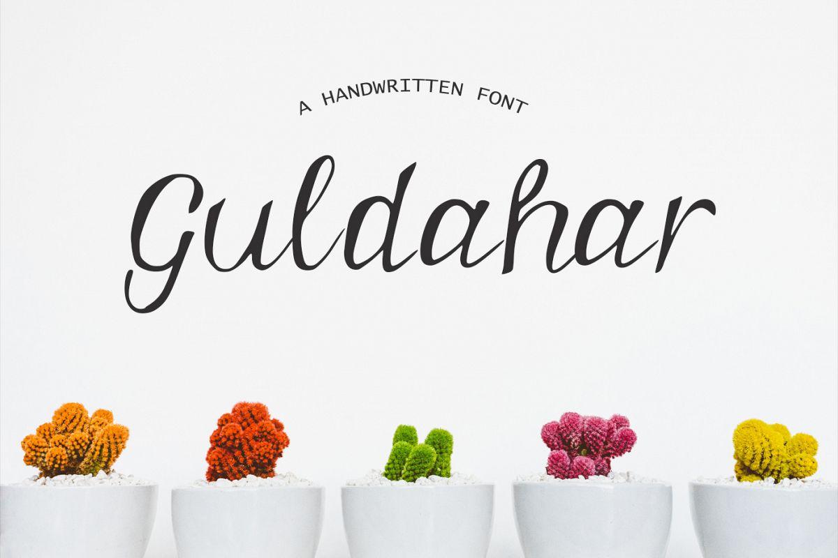 Guldahar Handwritten Font example image 1