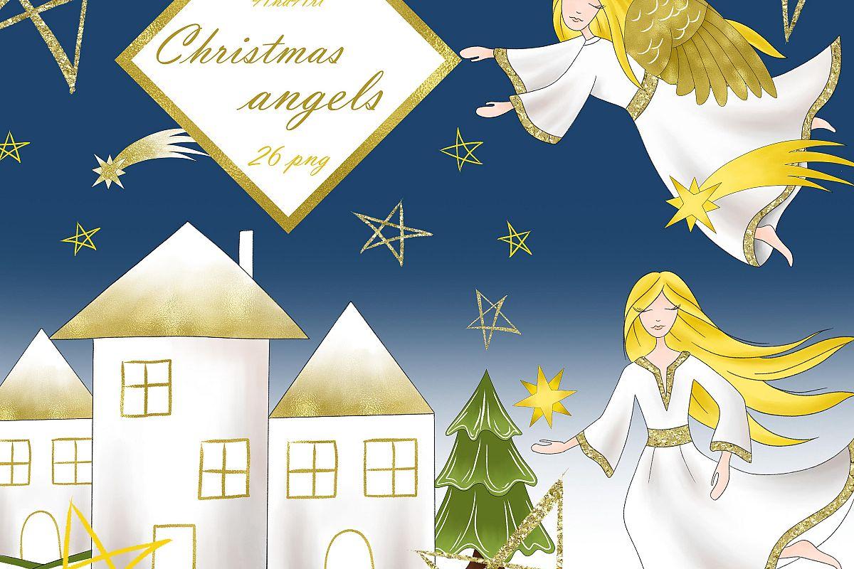 Christmas Angels Clipart.Christmas Angels Clipart