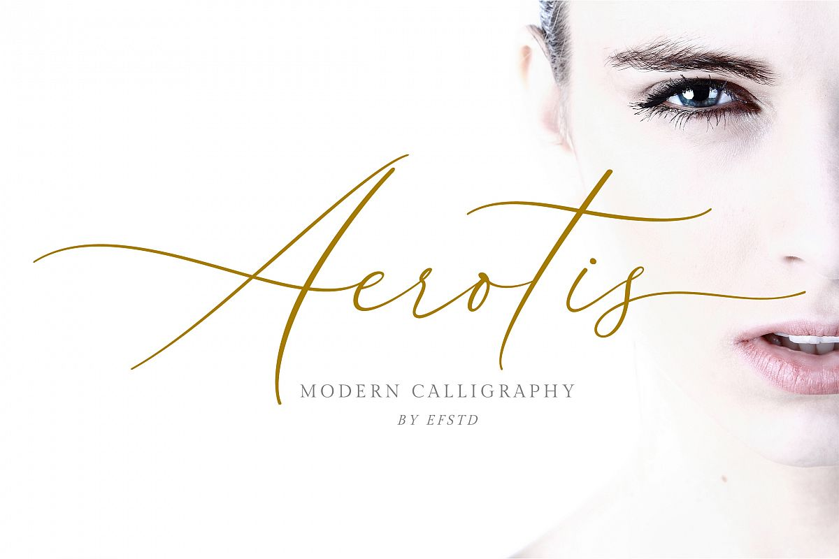 Aerotis, a Modern Calligraphy Font example image 1