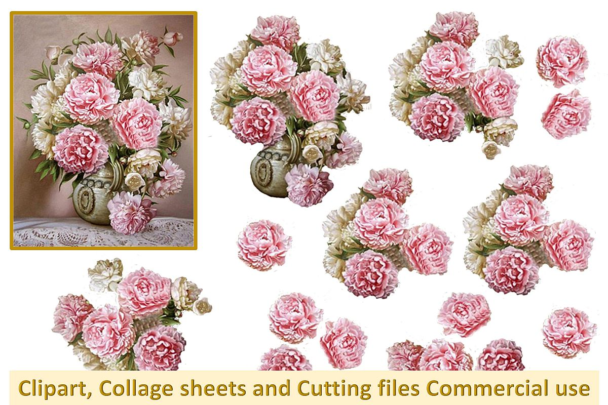 Printable collage sheet with all PNG and SVG Cutting file CU example image 1