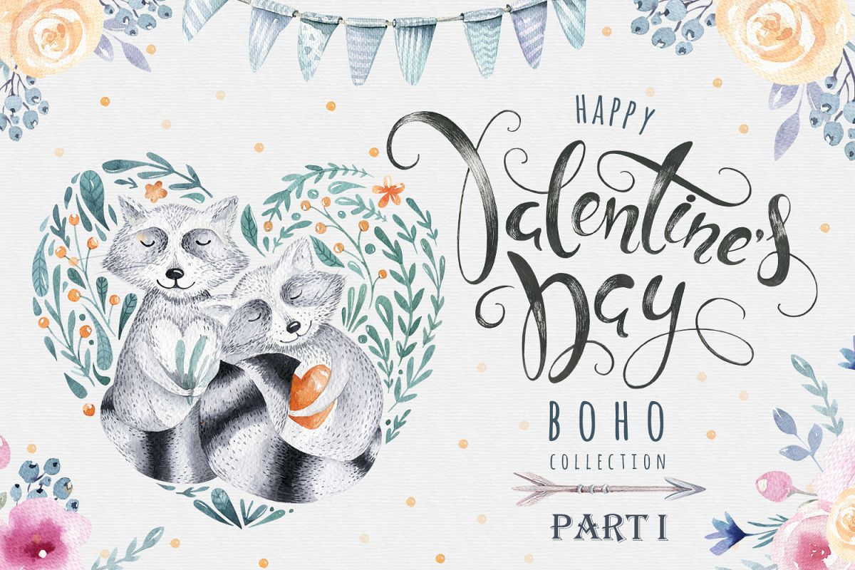Valentine's Day with raccoons example image 1