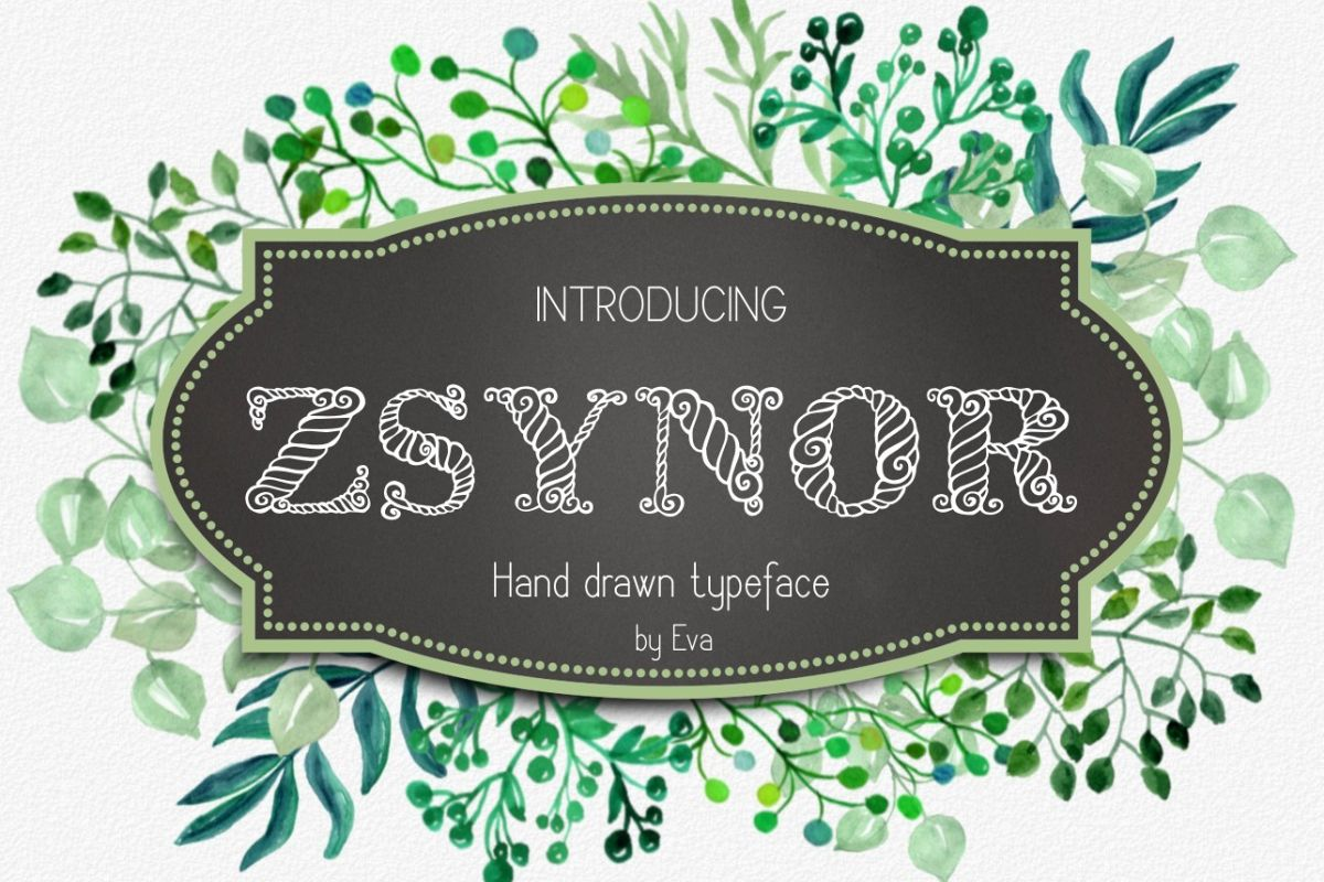 Zsynor Font example image 1