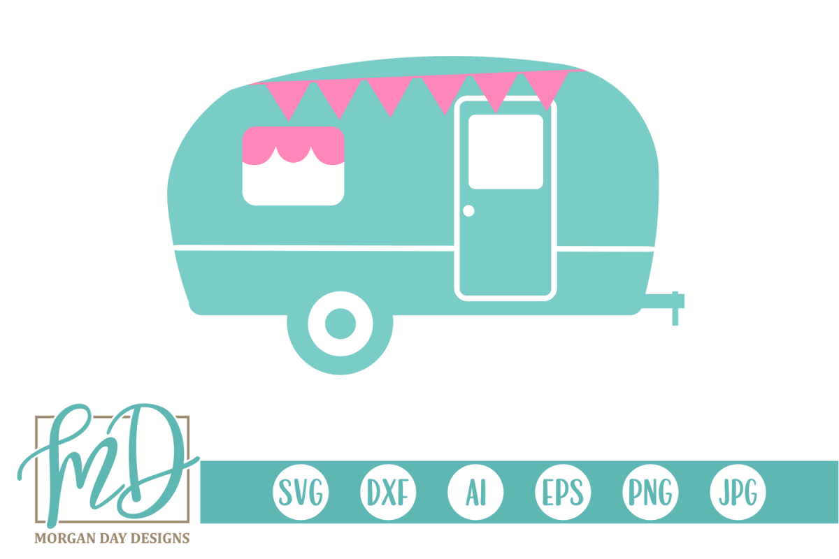 Camping - Summer - Cute Camper SVG example image 1