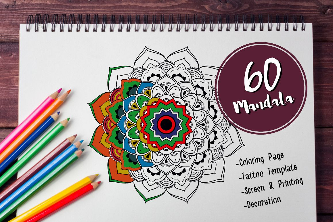 60 Mandala Tattoo Coloring Page Example Image
