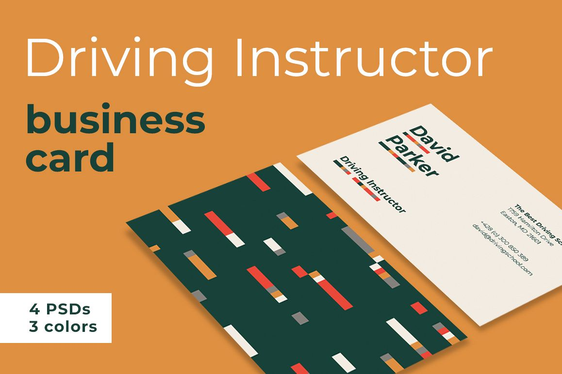 Driving Instructor Business Card example image 1