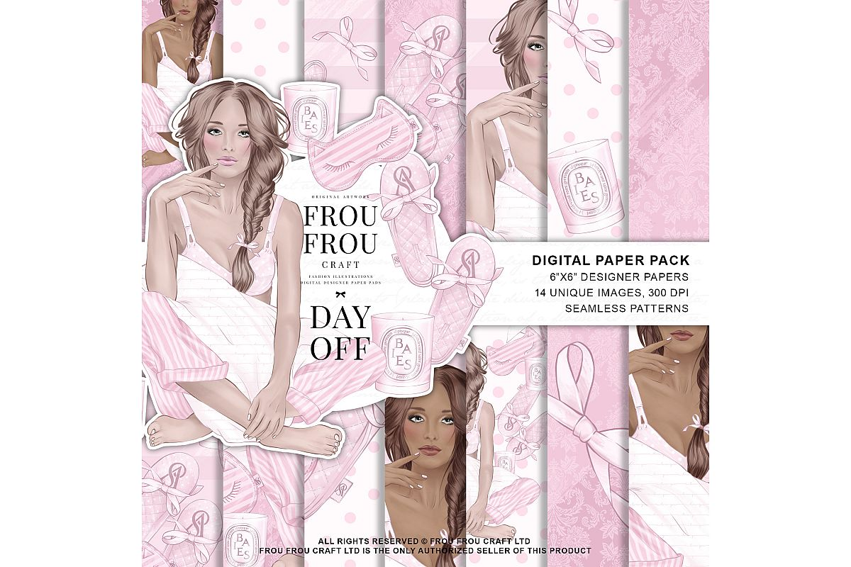 Holiday Weekend Fashion Girl Pijamas Paper Pack example image 1