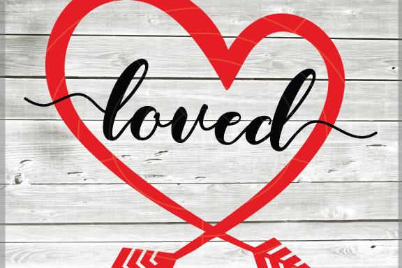 Valentine svg - Loved svg Hearts svg - Love heart arrow - example image 1