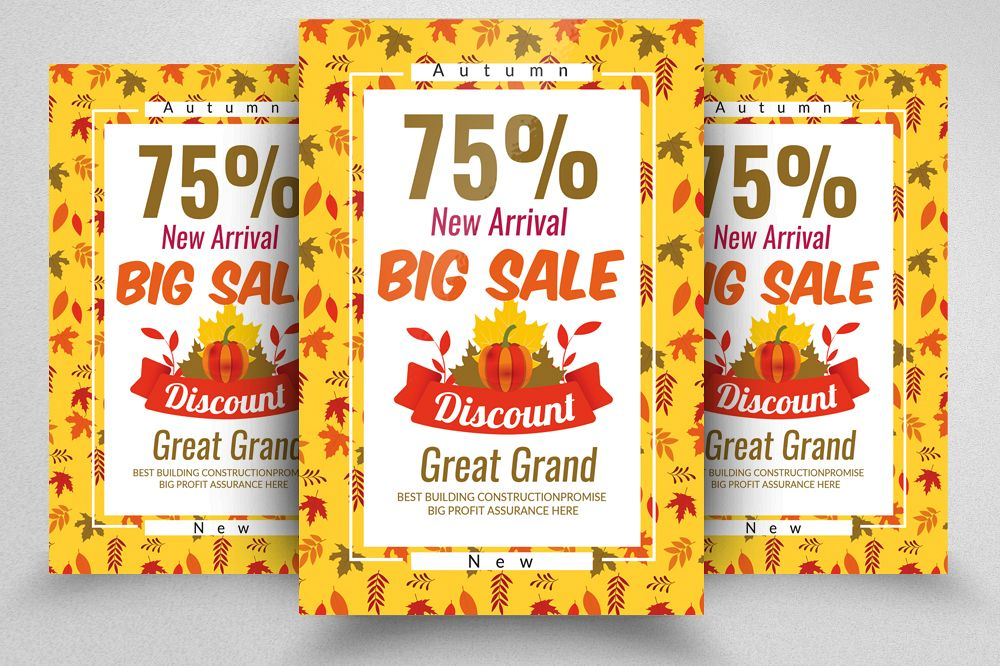 Autumn Big Sale Offer Discount Flyer Template example image 1