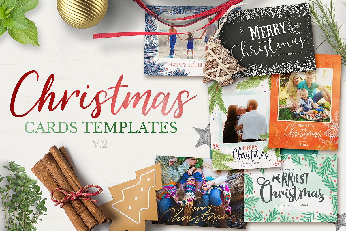 Christmas Cards Template v2 example image 1