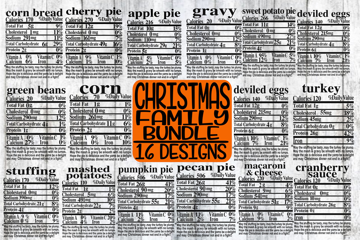 Christmas Family Bundle - Labels - 16 Designs - SVG only example image 1