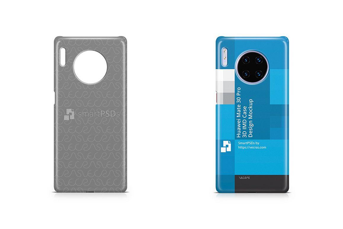 Huawei Mate 30 Pro 2019 3d IMD Case Design Mockup example image 1