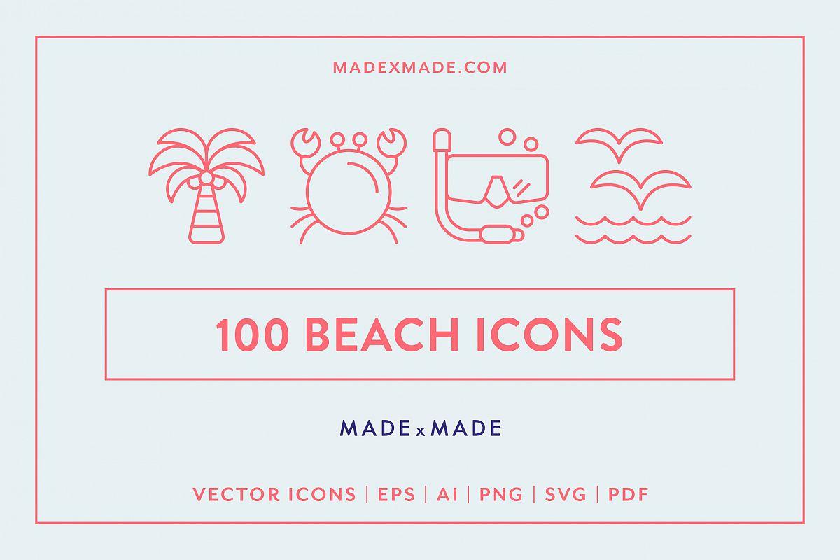 Line Icons - Beach example image 1