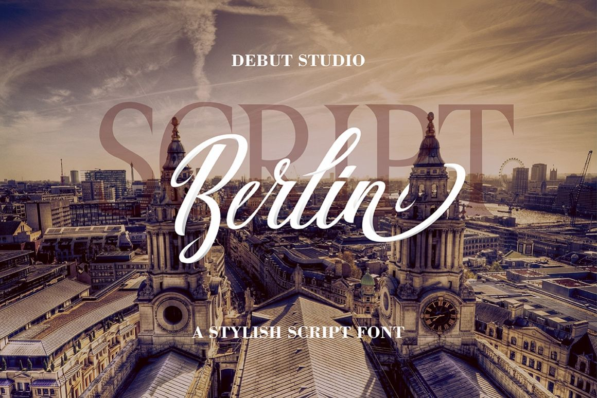 Berlin Script + Great Serif example image 1