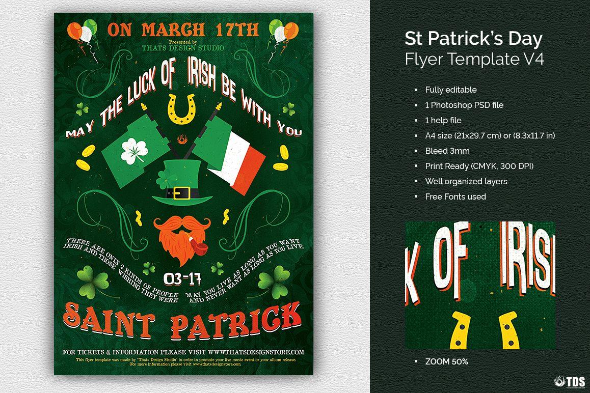 Saint Patricks Day Flyer Template V4 example image 1