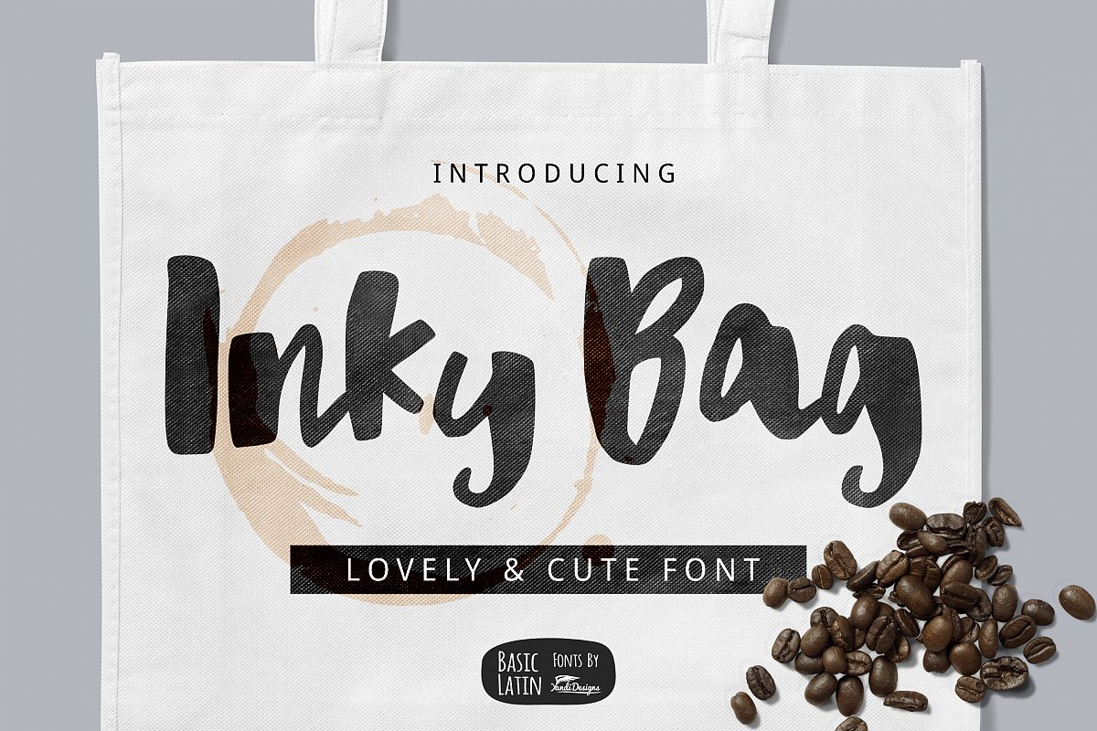 Inky Bag Font example image 1