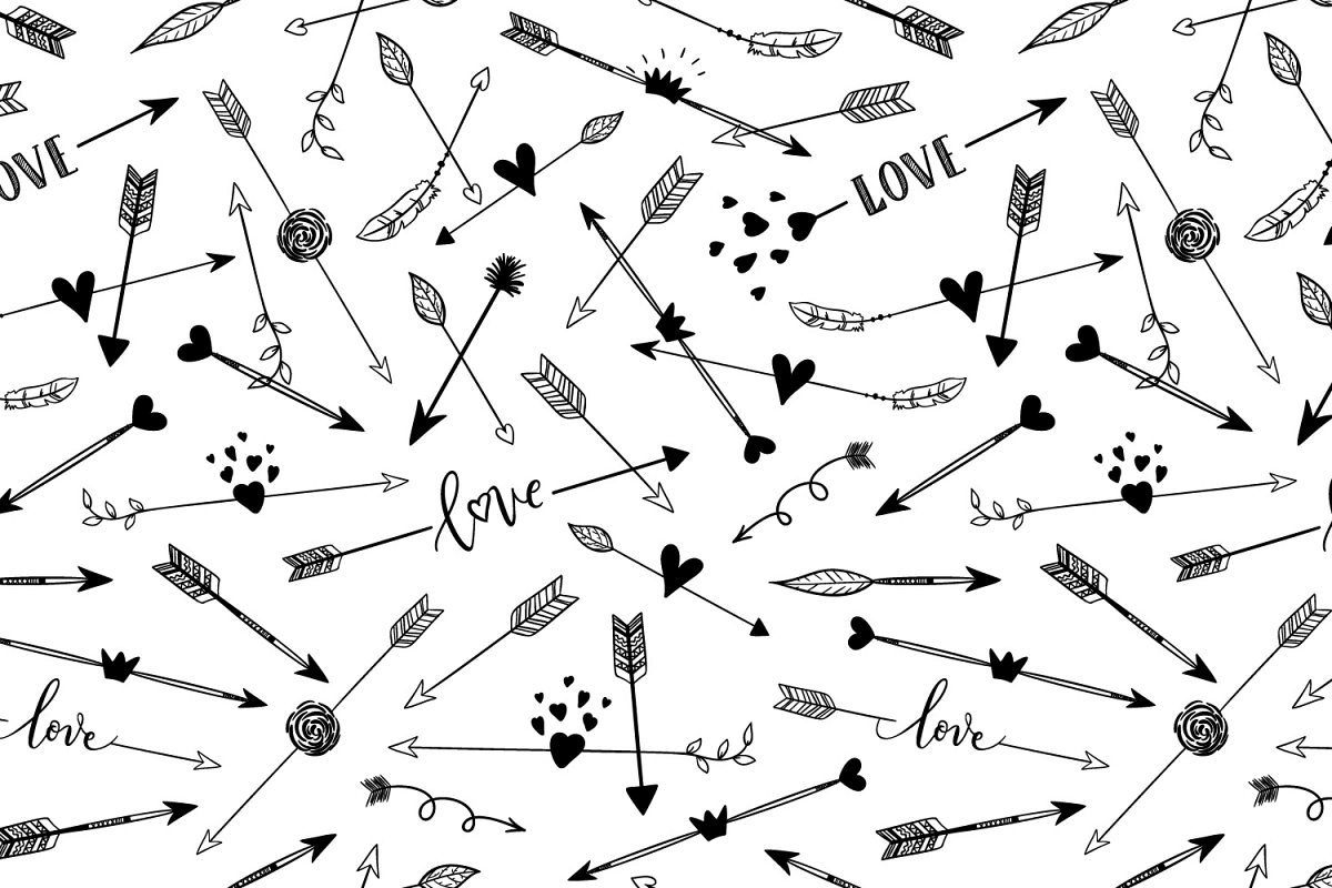 Hand drawn arrows seamless pattern example image 1