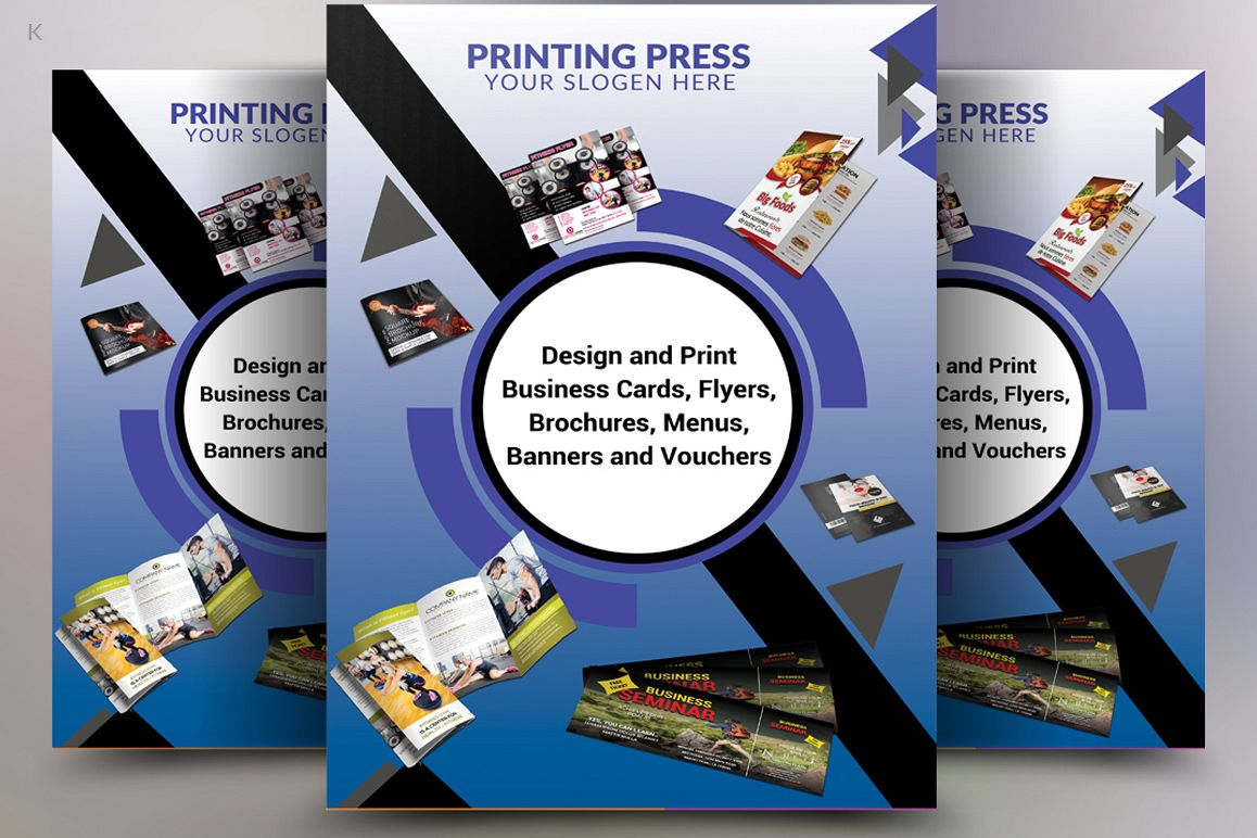 Printing press flyer by pro design design bundles printing press flyer example image reheart Images