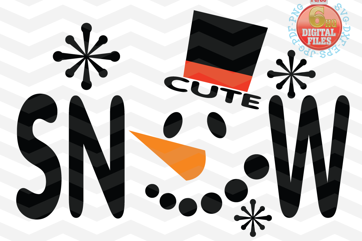 Snowman face svg - Snow Cute SVG - Christmas SVG - Snow SVG example image 1