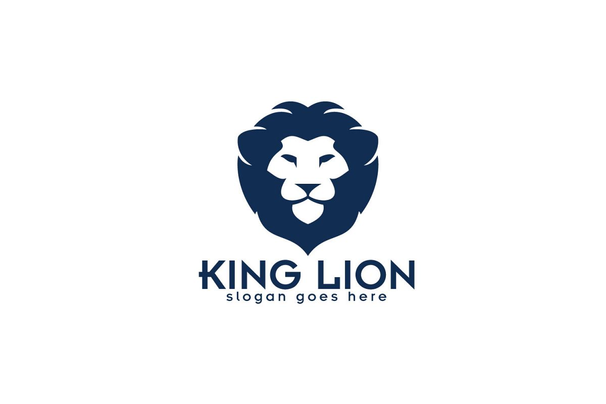 king lion logo design