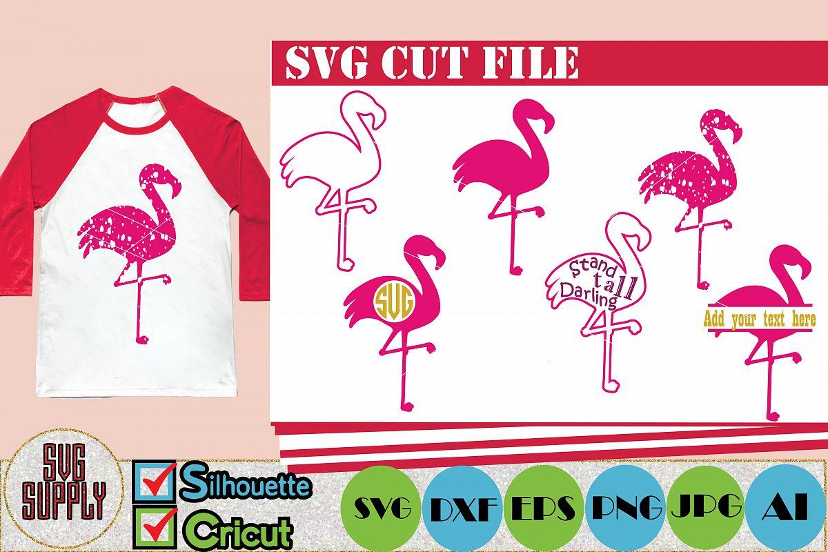 Flamingo SVG Cut File example image 1