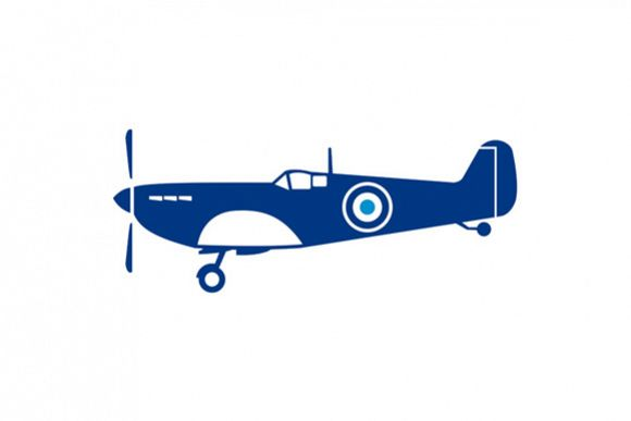 World War 2 Fighter Plane Spitfire Retro example image 1