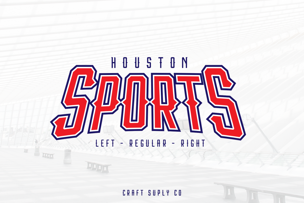 Houston Sports Font Family example image 1
