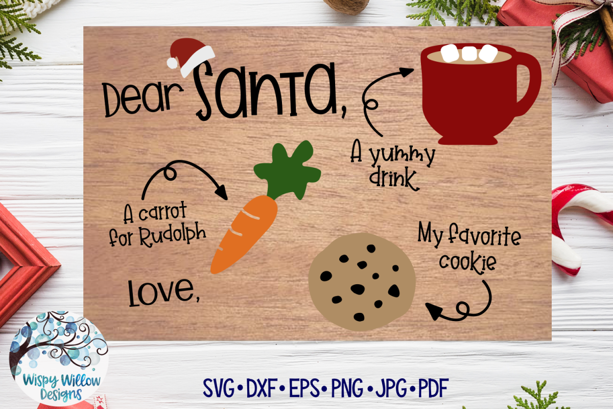 Santa Tray SVG | Christmas Cookie Tray SVG Cut File example image 1