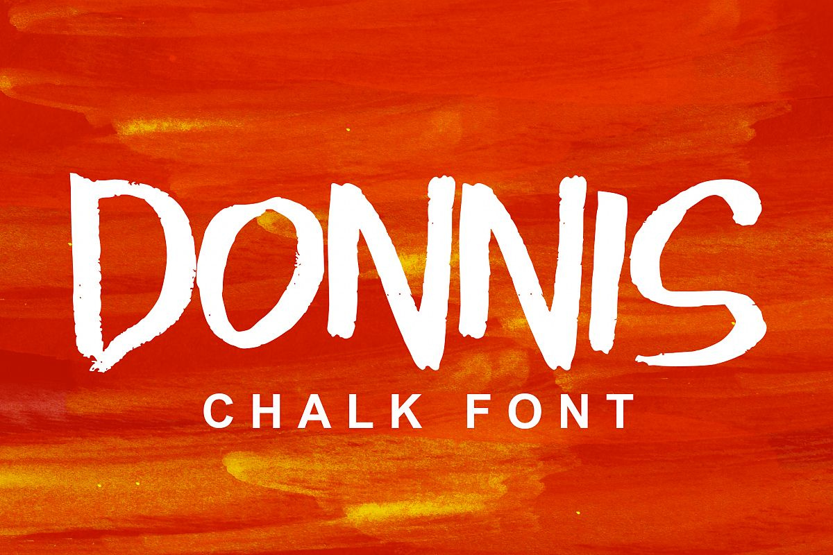 Donnis Chalk Font example image 1