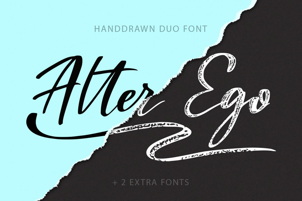 Alter Ego duo font + 2 extra fonts. example image 1