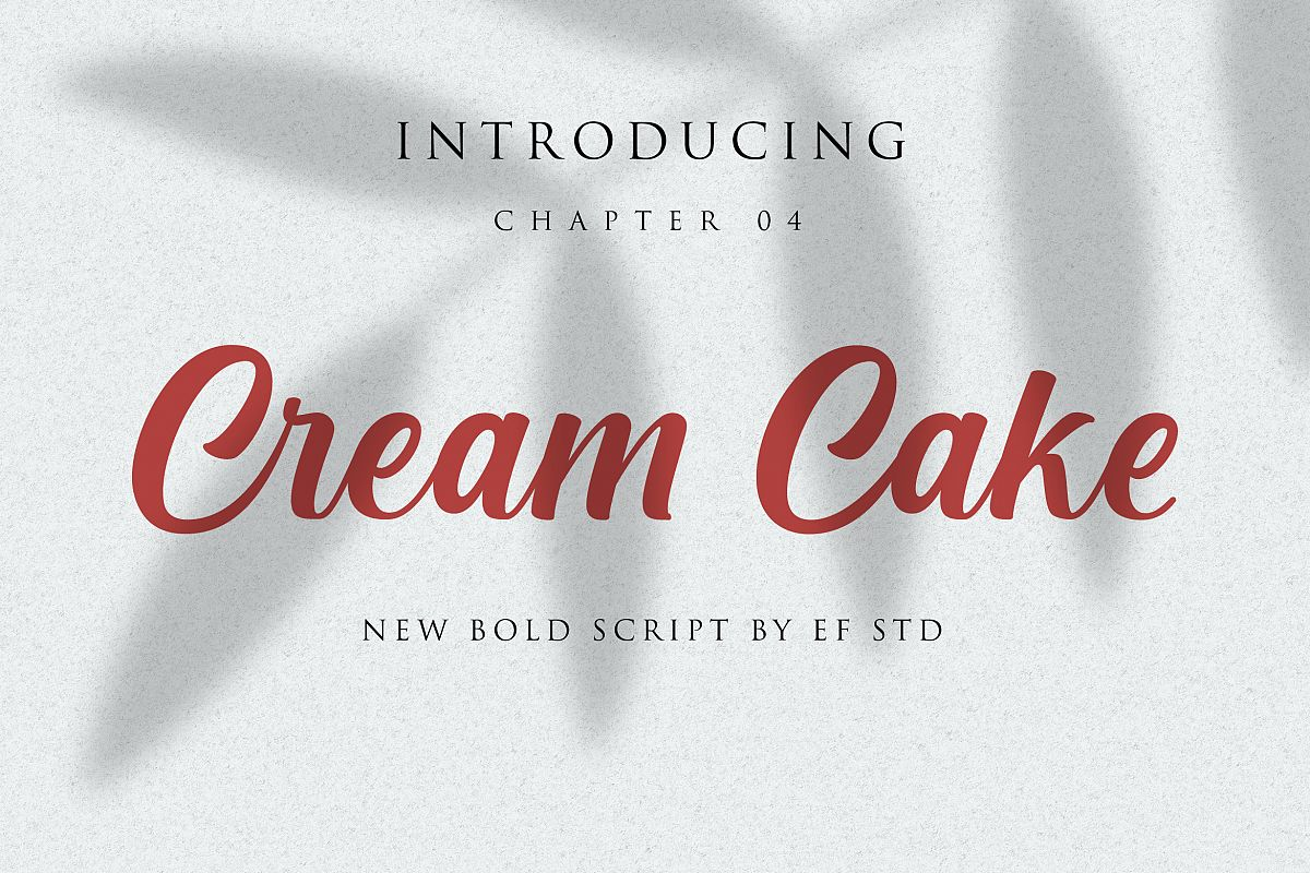 Cream Cake | New Bold Script Font example image 1