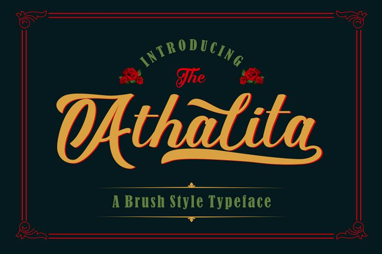 The Athalita / Cool brush stylist Font design example image 1